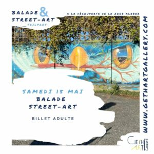 Balade street art 15 mai, billet adulte